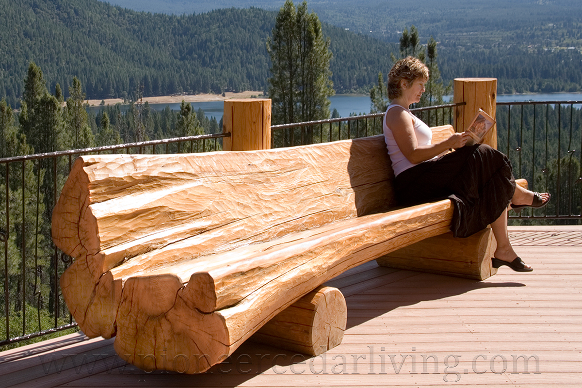 How To Build A Log Bench With A Chainsaw | galleryhip.com - The ...