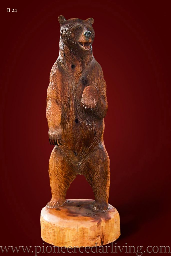 Standing Grizzly Bear Carving Wmnew X Px X