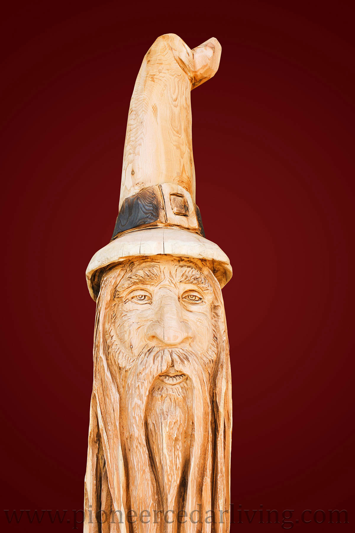 Wizard chainsaw carving pioneer cedar living